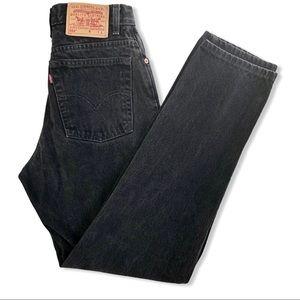 Vintage Levi's 550 Black High Rise Mom Jeans